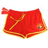 LICENSED BAYWATCH ® LADIES RED/YELLOW SHORTS